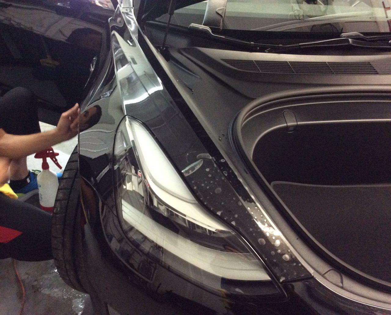 Paint Protection Film Tesla Model 3 Ceramic Pro Orlando