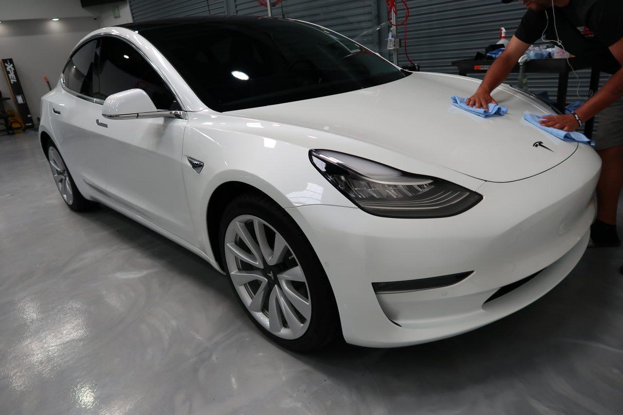 Ceramic Coating White 2019 Tesla Model 3   Ceramic Pro ...